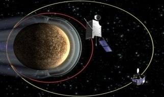 BepiColombo is a joint mission to planet Mercury between the European Space Agency ESA and the japanese counterpart JAXA. Launched on 19 October 2018 it will arrive at Mercury at the end of 2025. The project is named after Guiseppe (Bepi) Colombo and consists of two separate spacecraft: Mercury Planetary Orbiter (MPO) provided by ESA and Mercury Magnetospheric Orbiter (MMO) from JAXA (now renamed to MIO).
