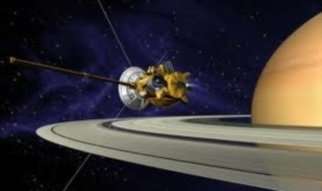 Cassini/Huygens is a joint project between NASA, ESA and the italian space agency ASI to study the Saturnian system including the atmosphere of the planet, the plasma environment in the magnetosphere, the ring system, and some of the Saturnain moons. Especially Titan is it the focus of the mission. The atmospheric probe Huygens was separated from the Cassini orbiter and went through Titan's atmosphere hanging on a parachute before landing on the surface.