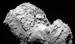 ESA's space probe Rosetta has reached the destination of its more than ten year long journey through space. At 11.30 AM (CEST) ESA's control station picked up the long awaited signal: Rosetta has arrived at 67P. The most recent images taken by OSIRIS reveal a world of bizarre beauty. <br /><br />