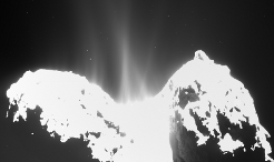 Rosetta's comet is beginning to show a clearly visible increase in activity. While in the past months most of the dust emitted from the body's surface seemed to originate from the neck region which connects the two lobes, images obtained by Rosetta's scientific imaging system OSIRIS now show jets of dust along almost the whole extent of the comet.
