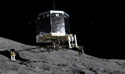 November 12, 2014 goes down in history. On this Wednesday, an unmanned probe landed on a comet nucleus for the first time ever. The signal was received at 17.03 CET in the control center. Philae is to remain on the comet's surface as a permanent research station to collect data and take measurements for at least 60 hours. <br /><br />