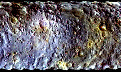 The surface composition of dwarf planet Ceres is far more diverse than can be discerned by the naked eye. The body with a diameter of approximately 950 kilometers must therefore have seen an eventful past.
