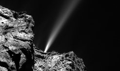 In the approach to perihelion over the past few weeks, Rosetta has been witnessing growing activity from Comet 67P/Churyumov–Gerasimenko, with one dramatic outburst event on 29 July proving so powerful that it even pushed away the incoming solar wind. The outburst was registered by several of Rosetta's instruments from their vantage point 186 kilometres from the comet.
