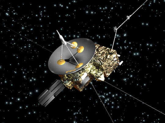 The Ulysses mission was a joint project of NASA and ESA. One of the missions's goals was to measure interstellar dust particles that make their way into the solar system.