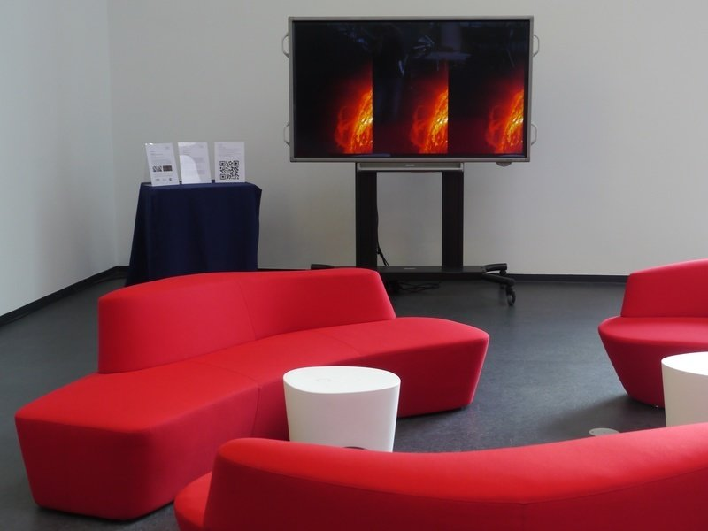Audio-Video-Installation SPACES im MPS-Foyer