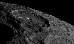 NASA's space probe Dawn is on its way to a new orbit around dwarf planet Ceres - and caught a new glimpse of Occator Crater.