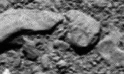 Scientists analysing the final telemetry sent by Rosetta immediately before it shut down on the surface of the comet last year have reconstructed one last image of its touchdown site.