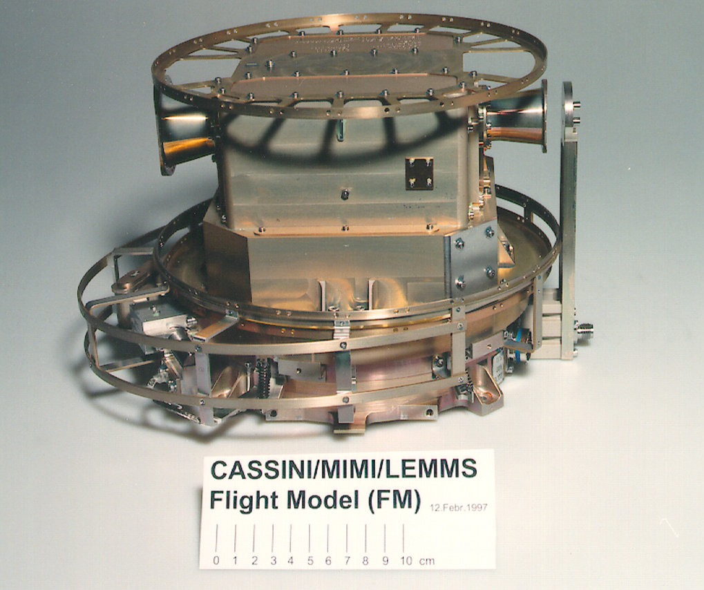 Low Energy Magnetospheric Measurement System LEMMS aboard the Cassini spacecraft. The purpose is to measure charged particles in the Saturnian magnetosphere.