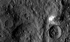 Just arrived in a new orbit: from an altitude of only 1470 kilometres, the Dawn space probe is now gazing at the dwarf planet Ceres.