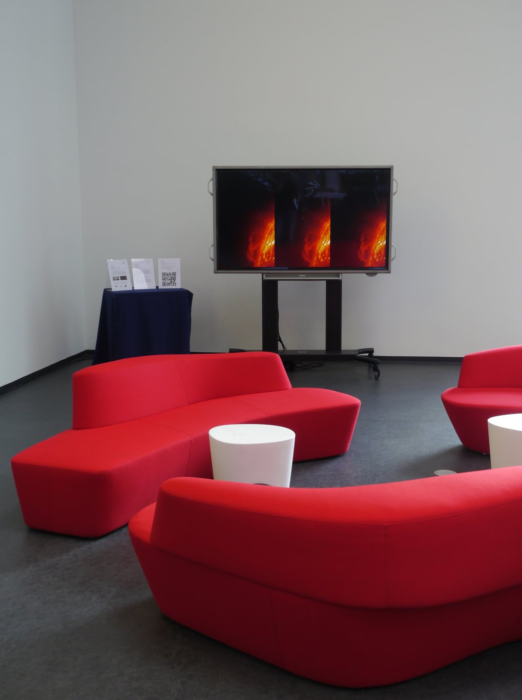 Audio-Video-Installation SPACES in the MPS foyer