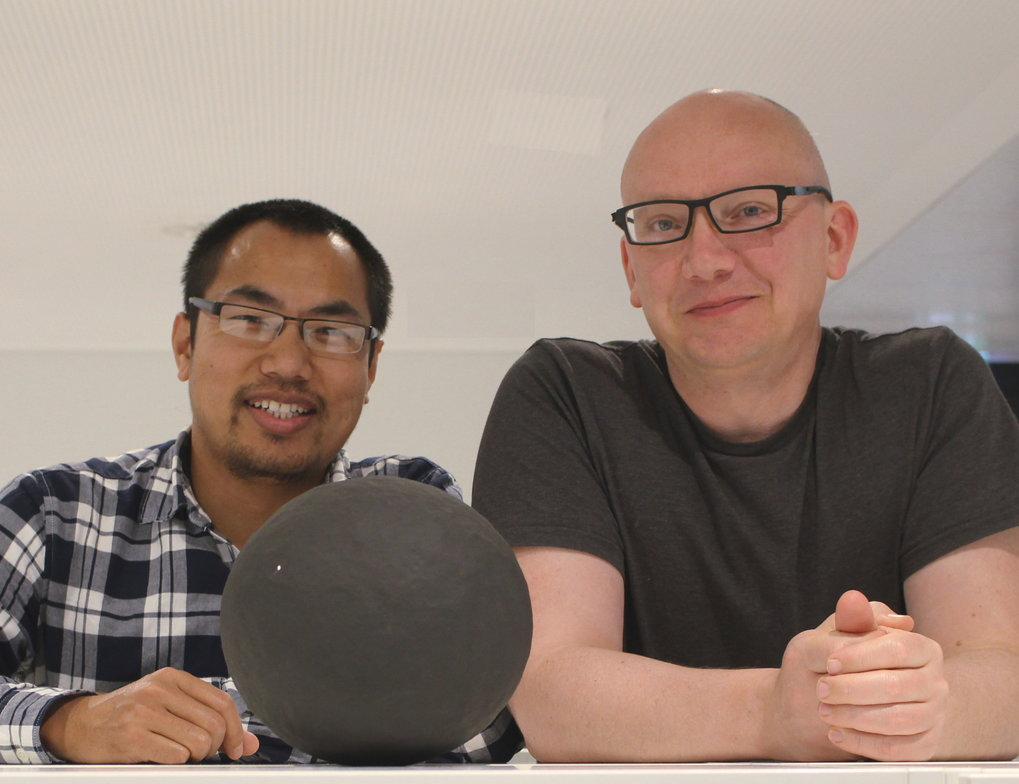 The International Astronomical Union has named two asteroids after Dr. Guneshwar Thangjam (left) and Dr. Thomas Platz (right) of the MPS for their contributions to NASA's asteroid mission Dawn.<br /><br />