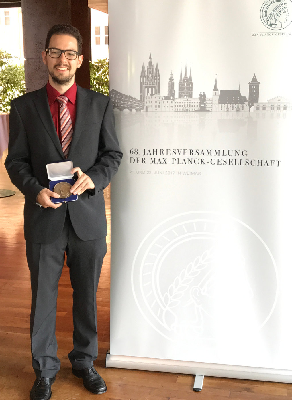 Dr. Jan Langfellner from the Max Planck Institute for Solar System Research has received one of this year's Otto Hahn Medals. <br /><br />