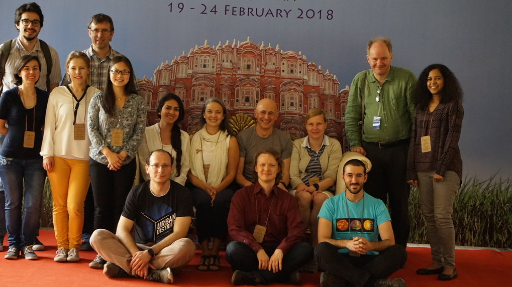 MPS scientists and students participating in the Symposium of the International Astronomical Union in Jaipur (India).