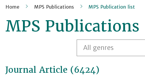 MPS Publication List
