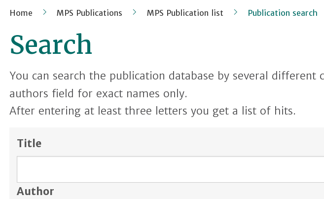 MPS Publication Search